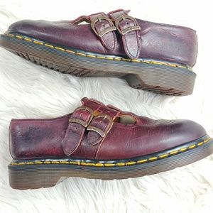 DR MARTENS LEATHER DOUBLE STRAP MARY JANE STYLE
